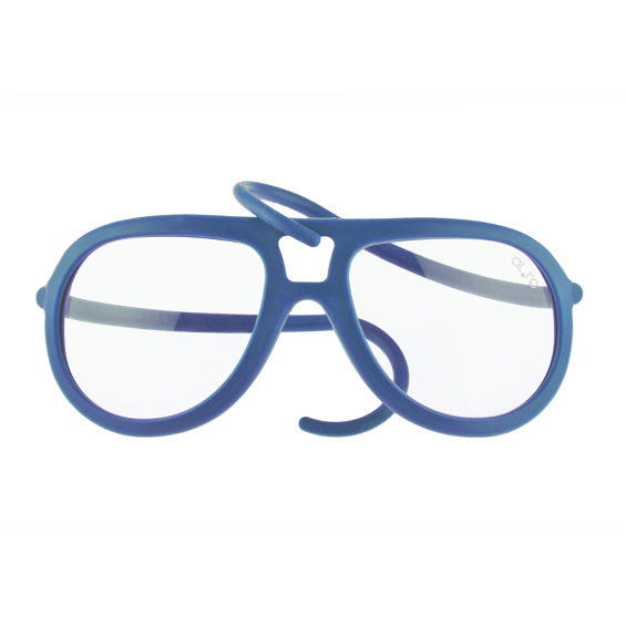 sunglasses in neutral drop rubber - blue aviation