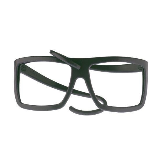 montatura occhiale in gomma square collection senza lente - nero