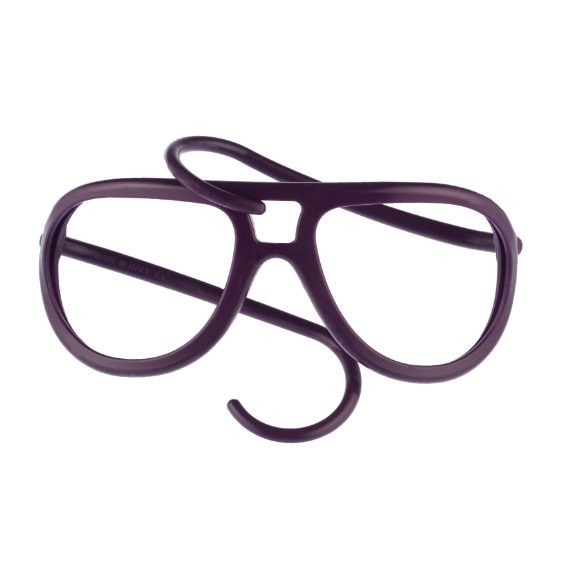 montatura occhiale in gomma drop collection senza lente - prugna