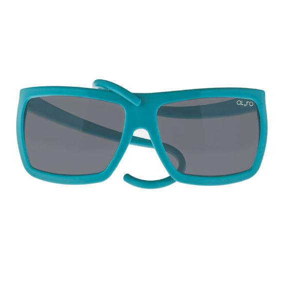 occhiale in gomma square collection lente polarizzata - cobalto