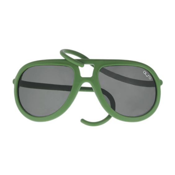 occhiale in gomma drop lente polarizzata - verde militare