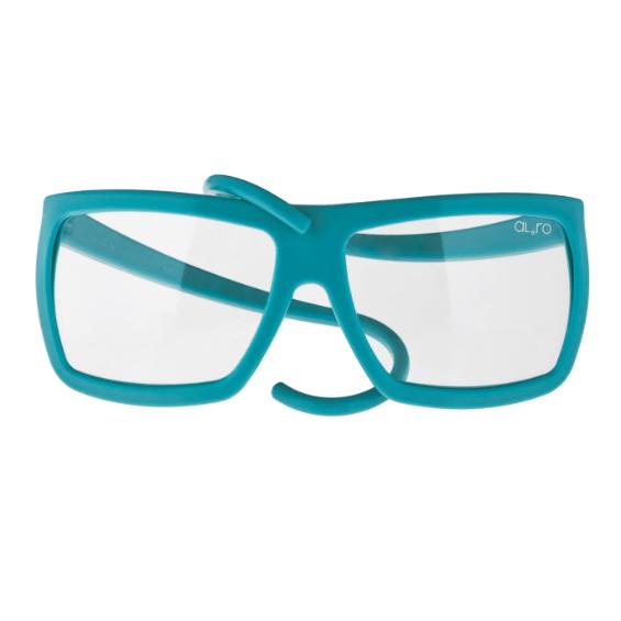occhiale in gomma square collection lente neutra - cobalto