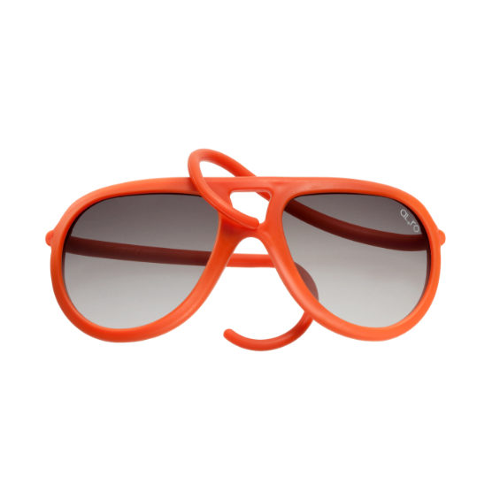occhiale in gomma drop lente sfumata - arancio