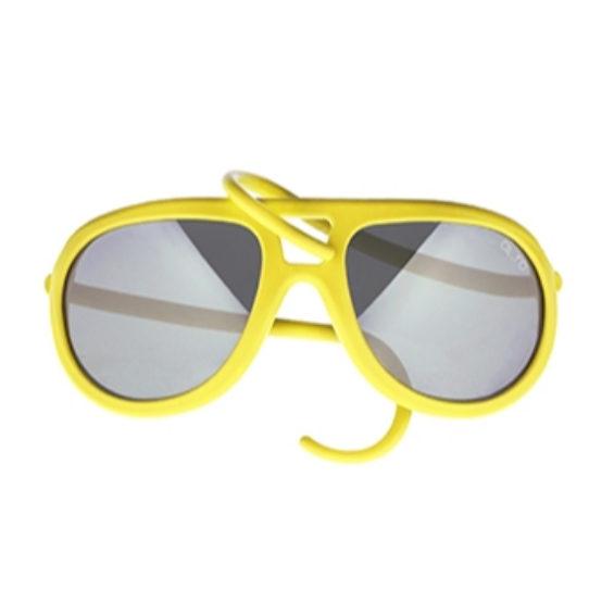 occhiale in gomma drop lente specchiata - lime