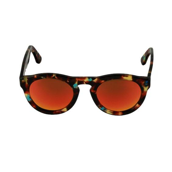 Occhiale Forma Phantos Havana con lente multilayer rossa
