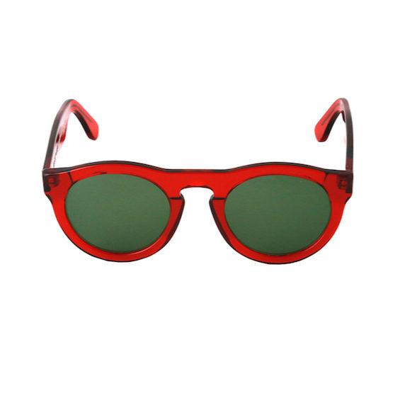 Occhiale Forma Phantos Rosso con lente verde