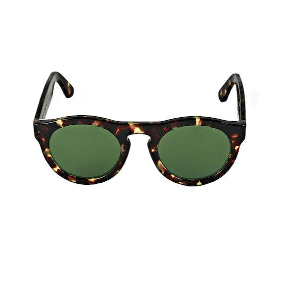 Occhiale Forma Phantos Havana con lente verde
