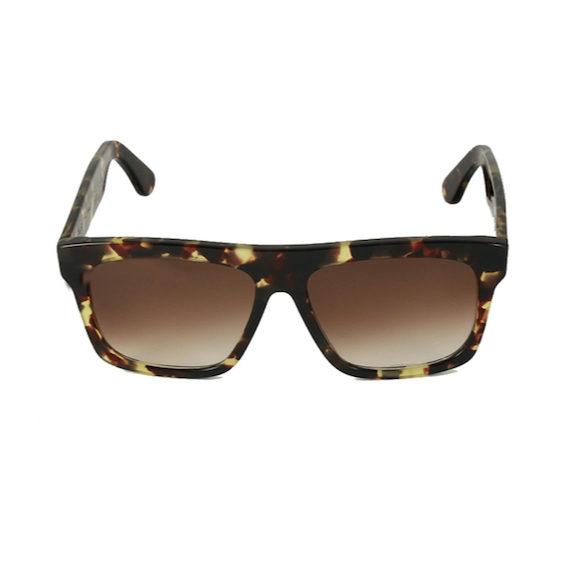 Occhiale Forma Quadrato Havana con lente sfumata marrone