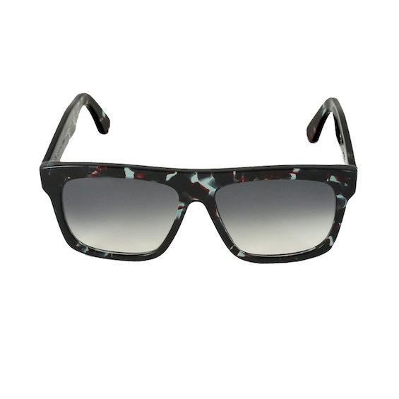 Occhiale Forma Quadrato Havana Grigia con lente sfumata nera