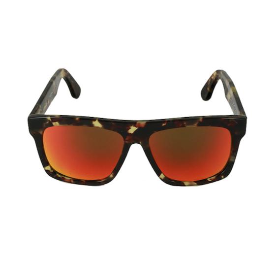 Occhiale Forma Quadrato Havana con lente multilayer rosso