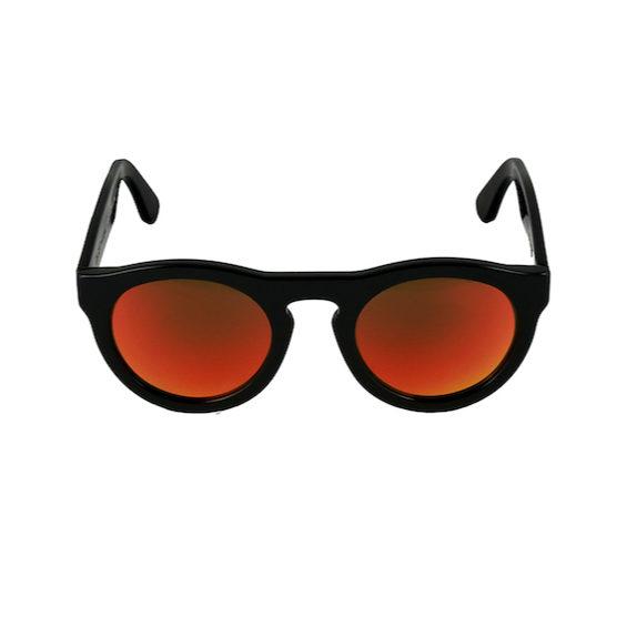 Occhiale Forma Phantos con lente multilayer rossa