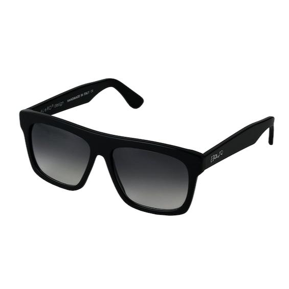Occhiale Forma Quadrato Nero con lente sfumata nera